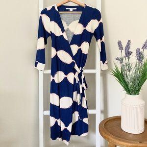 Diane Von Furstenberg New Julian Silk Wrap Dress